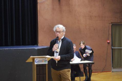 Le représentant du Collectif Eau 88, Jean-François Fleck a eu trente minutes pour présenter ses principes.
