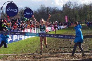 Liv Westphal (Entente Sarthe Athlétisme) s'est imposée dans le cross long.