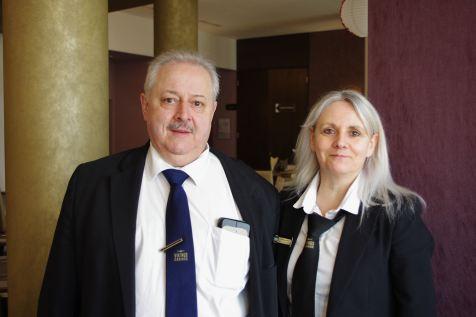 Marc et Marie-Blanche Mermaz (directeur et responsable du casino de Vittel)