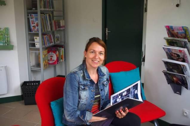 Marie Aubert, la responsable de la bibliothèque-Médiathèque de Vittel.