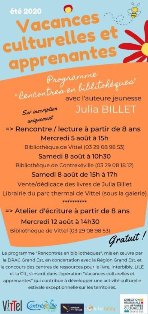 Julia Billet verso