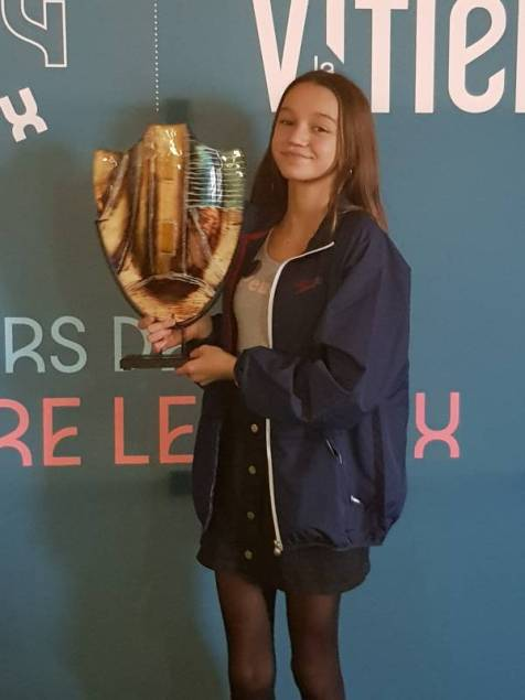 La nageuse vittelloise, Yvanie Roy, remporte le premier trophée Antoine Borowski.