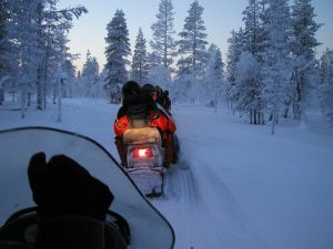 Lapland-snowmobile