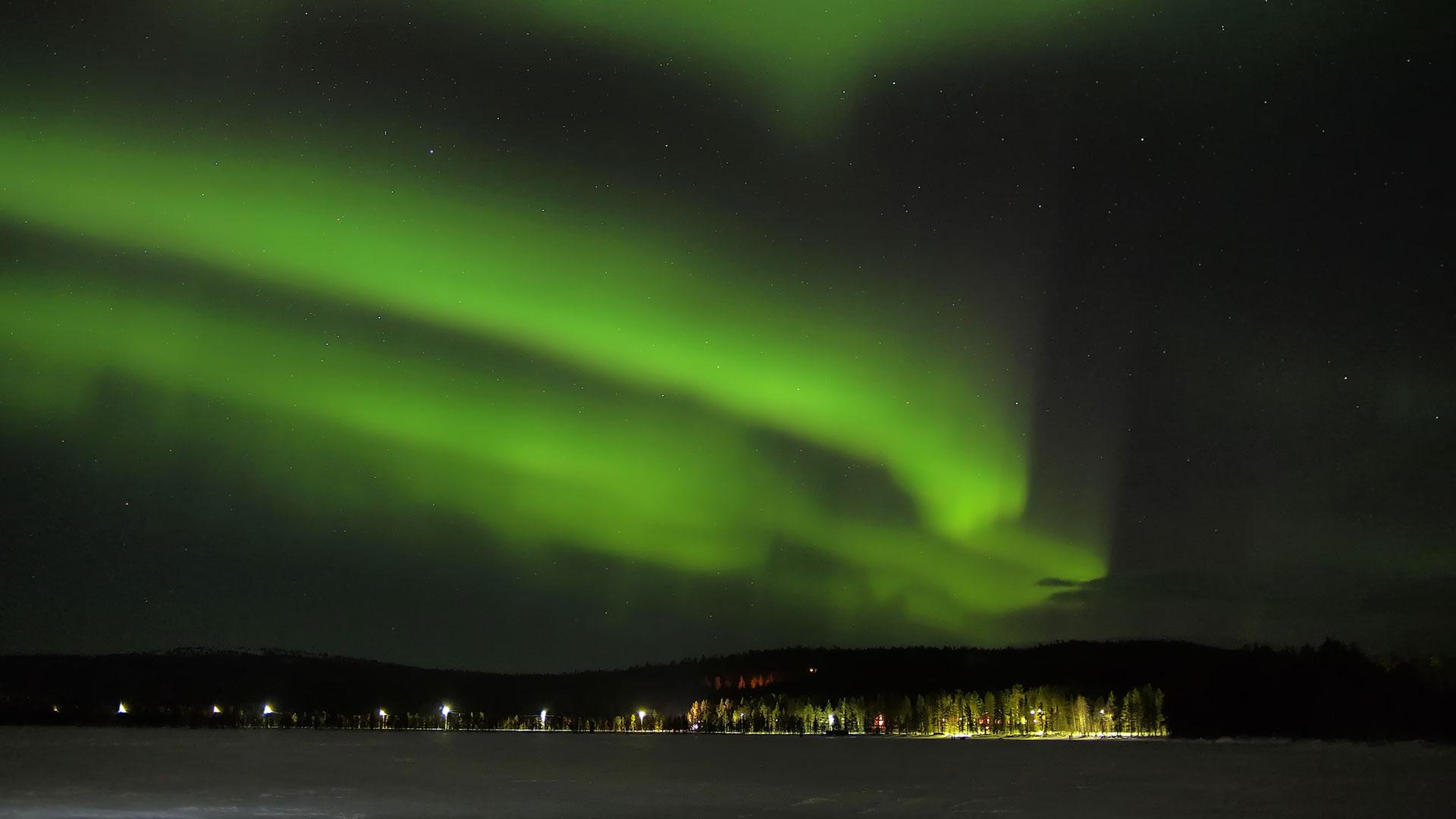 Northern Lights Iceland Map