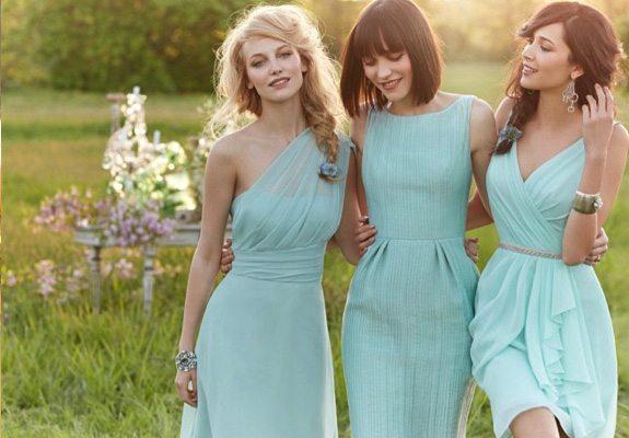 Vestidos para damas color verde turquesa