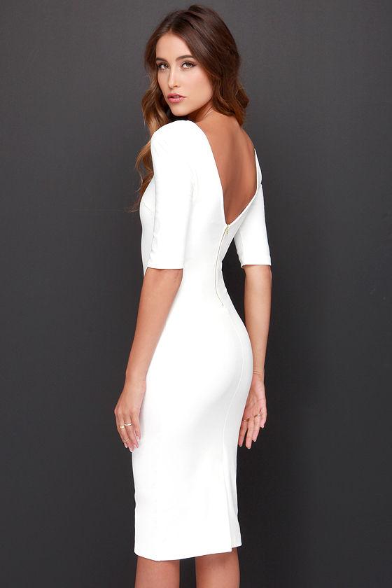 Vestido blanco con negro de ala mala