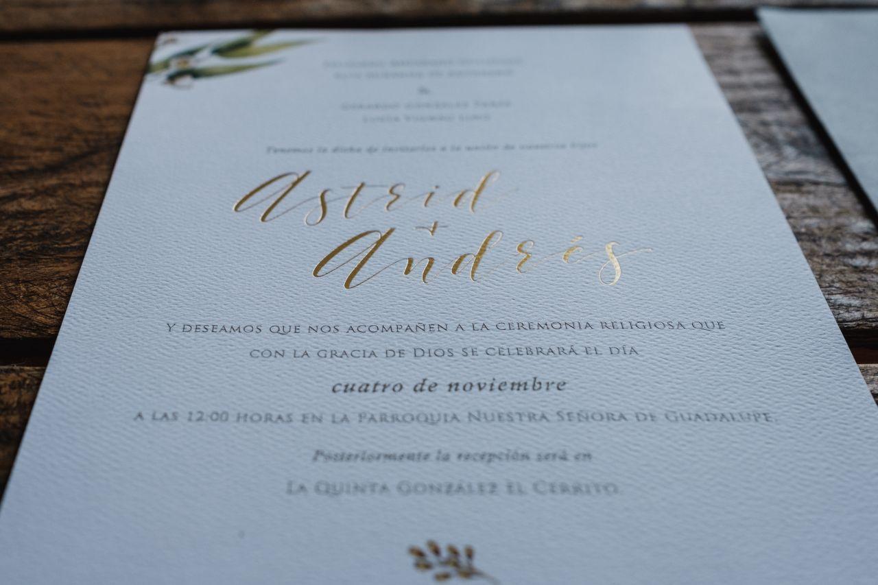 Tendencias para invitaciones de boda Clásico Atemporal Especial 2018