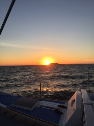 Sunset on the Catamaran with Del Mar Charters