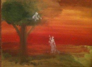 Zachée, huile sur toile, 25x30 cm, GLSG, Mai 2011