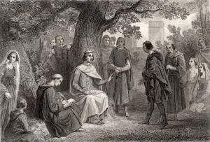 La justice de Saint-Louis au pied du chêne du bois de Vincennes