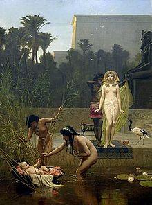 Frederick Goodall (1822-1904), Moïse sauvé des eaux, 1885, huile sur toile ©collection Pérez Simon