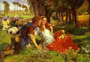William Holman Hunt, Le Mauvais Berger (The Hireling Shepherd), 1851, Manchester City Art Gallery, huile sur toile
