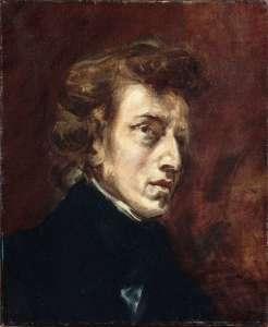 Eugène Delacroix, Portrait de Frédéric Chopin, vers 1838, Musée du Louvre, huile sur toile