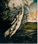 George Richmond (1809-1896) La Création de la Lumière (The Creation of Light) 1826, Tate Gallery, tempera, or et argent sur acajou