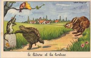 le lievre et la tortue