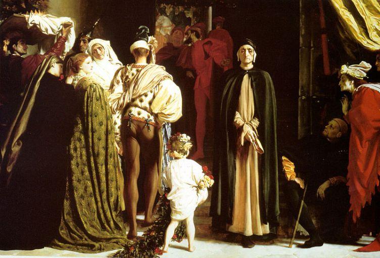 Frederic Leighton (1830-1896), Dante en exil, 1864, huile sur toile