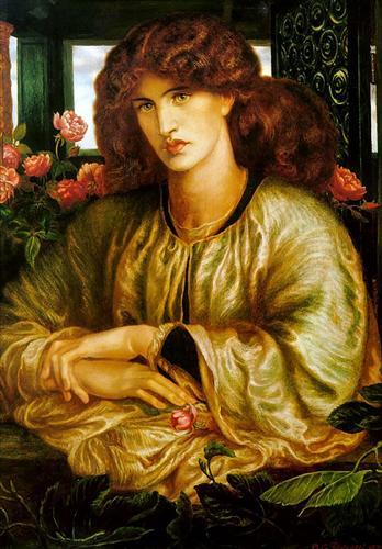 Dante Gabriel Rossetti, La Donna della Finestra, 1879, Harvard Fogg Art Museum, huile sur toile