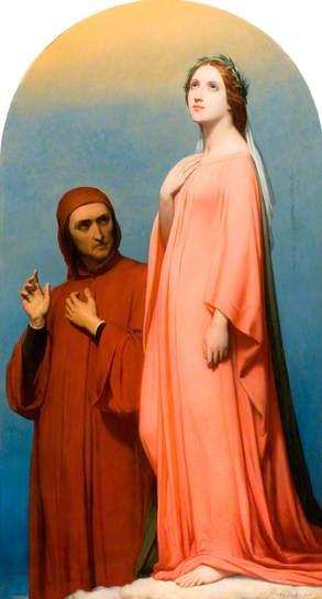 Ary Scheffer (1795-1858), La vision de Dante, 1846, Wolverhampton Arts and Heritage, huile sur toile