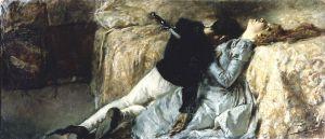 Fig. Gaetano Previati (1852-1920) Paolo et Francesca, vers 1887, huile sur toile, Accademia Carrara