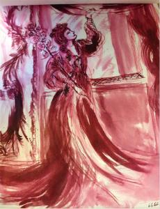 Malaguena, dessin-poème de l'Oiseau-Lyre, 2013