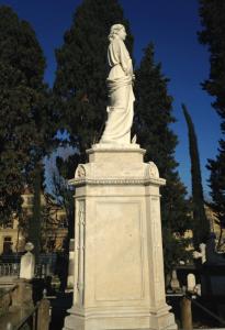 Statue funéraire du Cimetière des Anglais de Florence