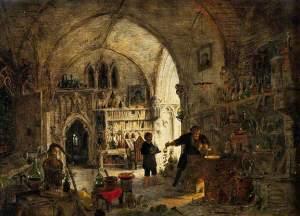 James Nasmyth (1808-1890), Alchimiste dans son laboratoire, Welcome Library