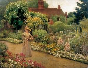 An English Garden par Percy Robert Craft, York Museums Trust
