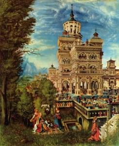 Albrecht Altdorfer - Suzanne au bain - 1526 - 74x61cm - Alte Pinakothek - Münich - Panneau de tilleul