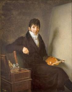 Auguste Louis Jean-Baptiste Rivière (1761-1833) Portrait par lui-même, 1808, huile sur toile, 145x112cm, Paris, collection Max Blumberg et Eduardo Araujo