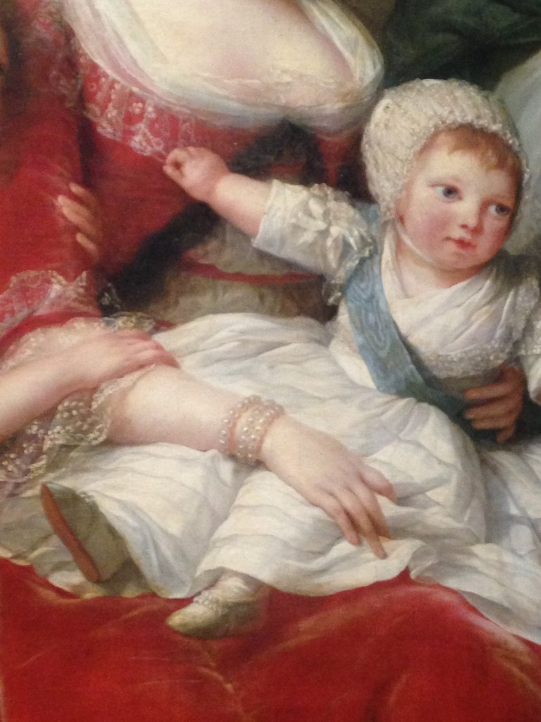 Elisabeth Vigée Lebrun, Marie-Antoinette et ses enfants (détail), 1787, huile sur toile, 271x215cm, Versailles ©Musée national des châteaux de Versailles et de Trianon