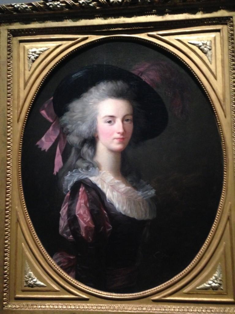 E. Vigée Lebrun, La maréchale-comtesse de Mailly, née Blanche Marie Félicité de Carbone Pelet, 1783, huile sur toile de forme ovale, 72x 58 cm, collection particulière