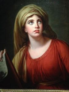 E. Vigée Lebrun, Lady Hamilton en Sibylle de Cumes, 1792, huile sur toile, 73x57.2cm, collection particulière