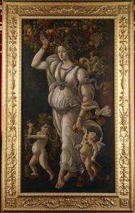 Sandro Botticelli, Automne ou Allégorie contre l'abus du vin, 1490-1500, Musée Condé, Chantilly, 192x105 cm