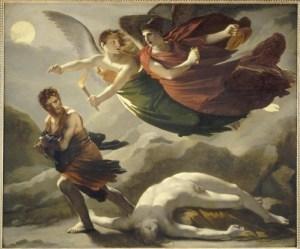 Pierre Paul Prud'hon (1758-1823) La Justice et la Vengeance divine poursuivant le Crime, 1808, musée du Louvre, huile sur toile,©musée du Louvre
