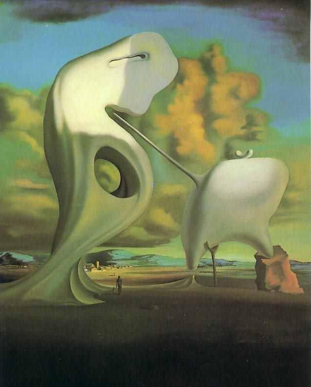 Salvador Dali, L'Angélus architectonique de Millet, 1933, Perls Galleries, New-York, huile sur toile, 73 X 60 cm, ©Perls Galleries, New-York