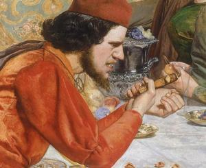 fig.1 John Everett Millais,Lorenzo et Isabella,1849, huile sur toile, 103x142.8cm ©Walker Art Gallery, Liverpool