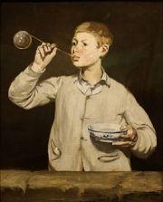 Édouard Manet, Les bulles de savon, 1867, huile sur toile ©musée Calouste Gulbenkian, Portugal