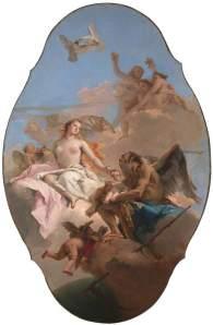 Giovanni Battista Tiepolo (1696-1770) Allégorie de Vénus et du Temps, vers 1754-58, huile sur toile ©National Gallery, Londres http://www.nationalgallery.org.uk/paintings/giovanni-battista-tiepolo-an-allegory-with-venus-and-time