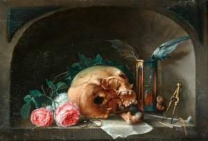 Jan Davidsz de Heem (1606-1683/84) Memento Mori, 1630-60, huile sur bois ©Museums Trust, York