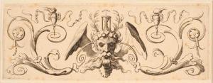 Claude Mellan (1598-1688) Bandeau orné de la tête de Chronos, 2e quart du 17e siècle, estampe ©musée des Beaux-Arts, Nancy