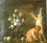 Nicolaes van Veerendael (1640-1691) ; Jasper Jacob van Opstal I (v.1610-1661 ?), Allégorie de la fugacité, vers 1660, huile sur toile ©musée de l'Ermitage, Saint Petersbourg