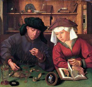 Quentin Metsys, Le Prêteur et sa femme, 1514, huile sur bois ©musée du Louvre