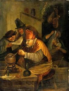 Jan Steen (1625/1626–1679) Un alchimiste ©Wellcome Library