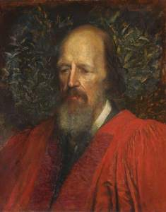 George Frederic Watts Watts, George Frederic, 1817-1904; Alfred Tennyson (1809-1892), 1st Baron Tennyson, Honorary Fellow (1869), Poet Laureate