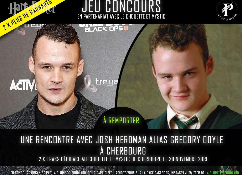Jeu concours : Tentez de remporter 2 x 1 pass dédicace pour Josh Herdman à Cherbourg le 30 novembre