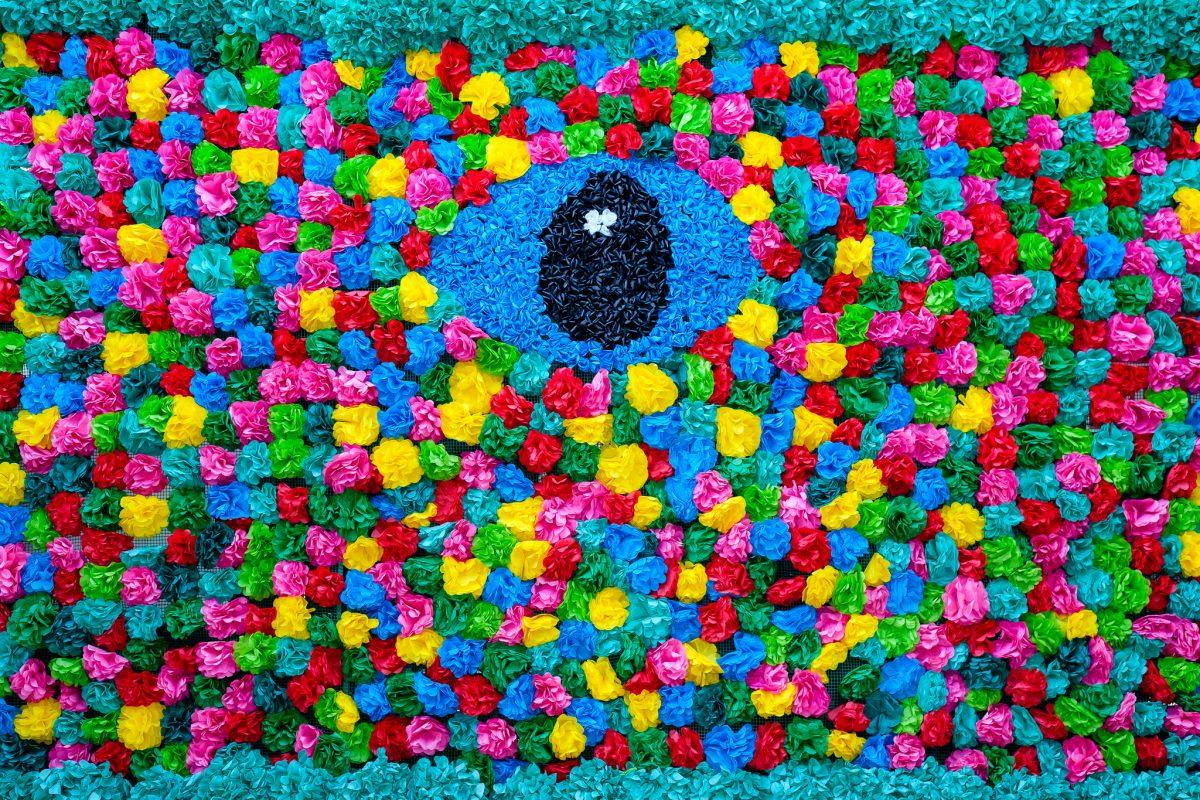 Muro de flores, Tomar