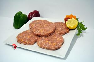 Hamburguesas de Pollo, Bacon, Queso y Salsa Barbacoa