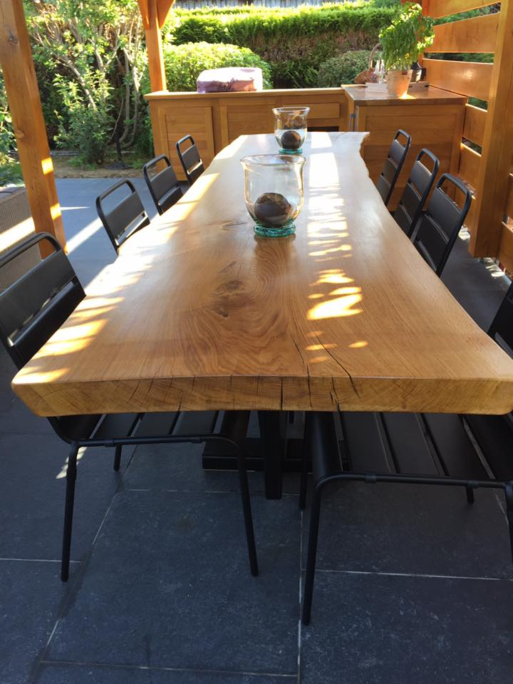 mobilier design acier bois scierie