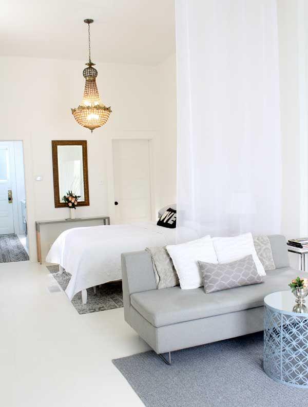 Comment séparer la chambre du salon avec des rideaux