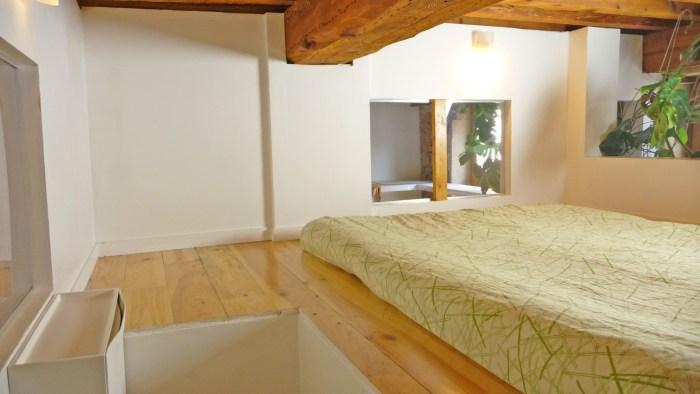 Un second plateau où poser le matelas de la chambre